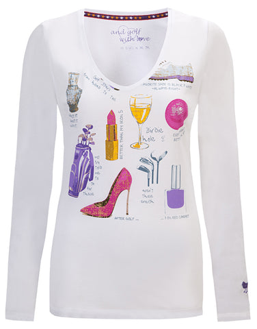 "Girls Golf Long Sleeve ""Ladies Stuff"" Tee"