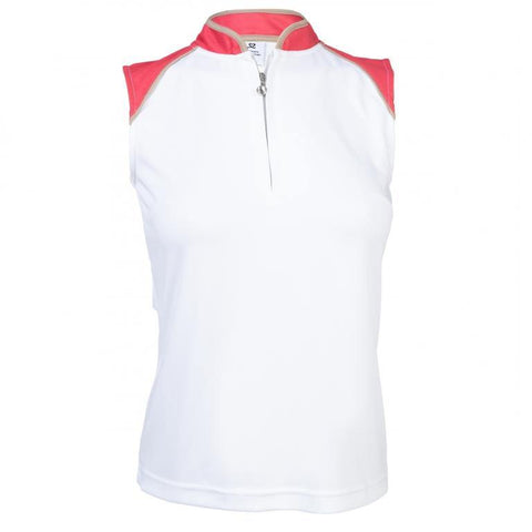 Daily Sports Coral Bloom Megan Sleeveless Polo