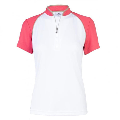 Daily Sports Coral Bloom Megan Short Sleeve Polo