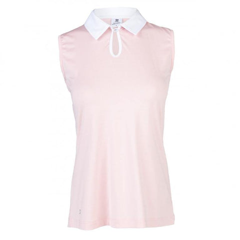 Daily Sports Coral Bloom Pheb Sleeveless Polo