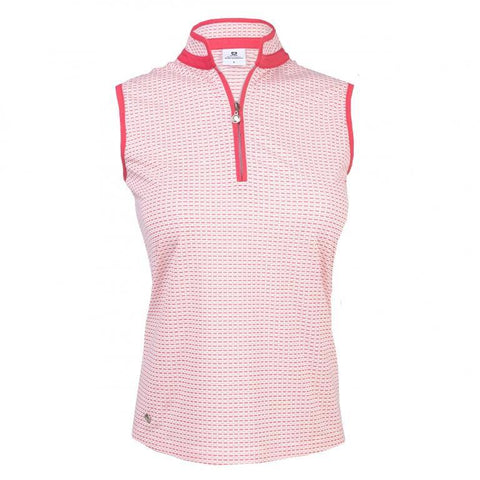 Daily Sports Coral Bloom Talia Sleeveless Polo