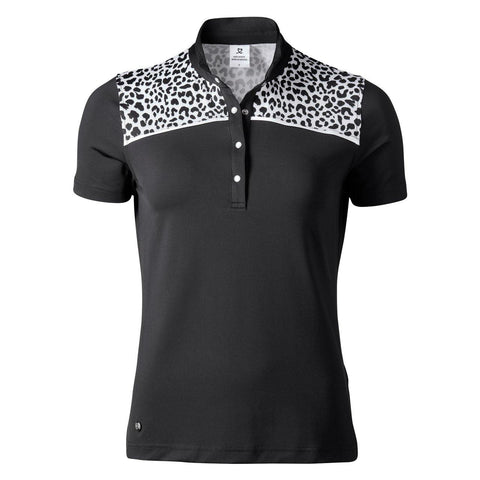 Daily Sports Black Animal Jocelyn Black Polo