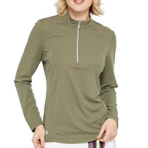 GGBlue Pursuit Ellen Olive 1/2 Zip Long Sleeve Shirt