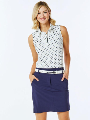 Belyn Key Nantucket Zip Keystone Sleeveless Polo