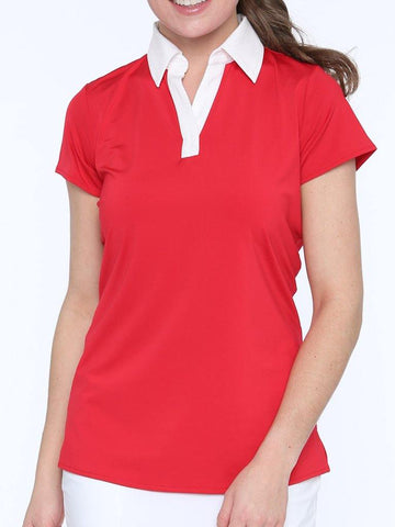 Belyn Key Monterey Cap Sleeve Polo - Gals on and off the Green