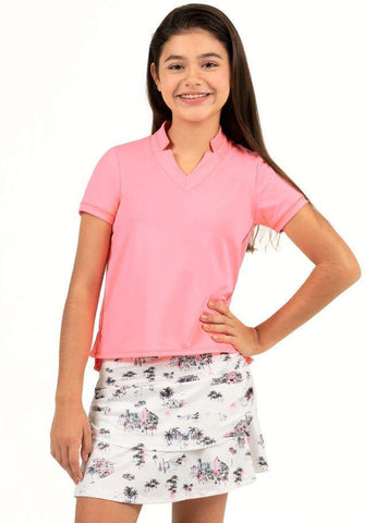Lucky in Love Junior's C'est La Vie Flamingo ChiChi Polo