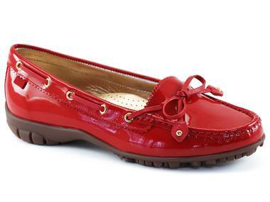 Marc Joseph Cypress Golf Shoe in Red Patent