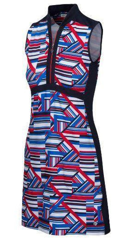 Greg Norman Fast Lane Liberty Sculpted Sleeveless Dress