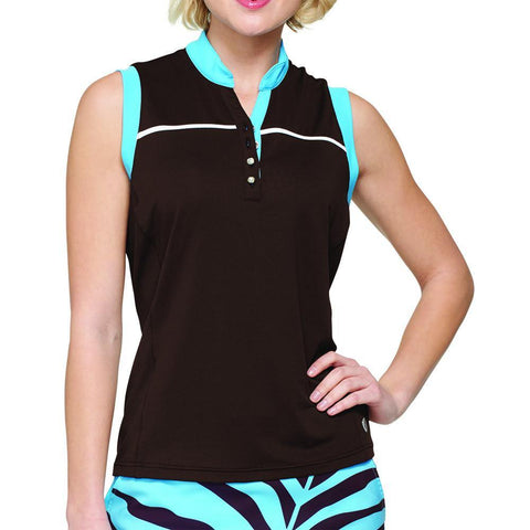GG Blue Serengeti Sparkles Piper Sleeveless Polo