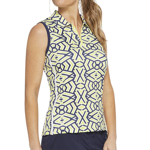 GGBlue Escapade Cassie Sunrise Sleeveless Polo