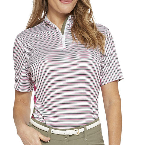 GGBlue Pursuit Britney Linear Short Sleeve Polo