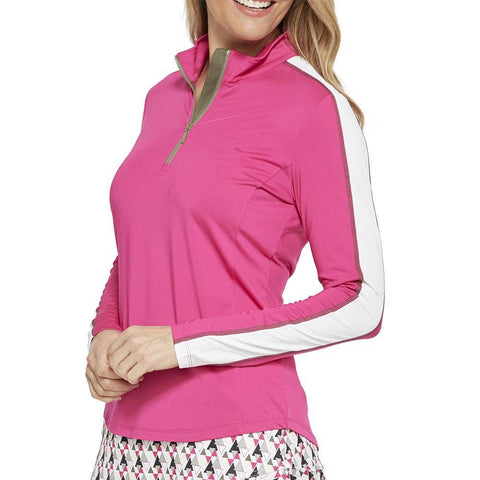 GGBlue Pursuit Maya Fuschia 1/2 Zip Long Sleeve