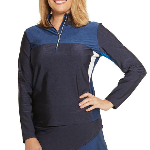GGBlue Carly Laura Long Sleeve Polo - Gals on and off the Green