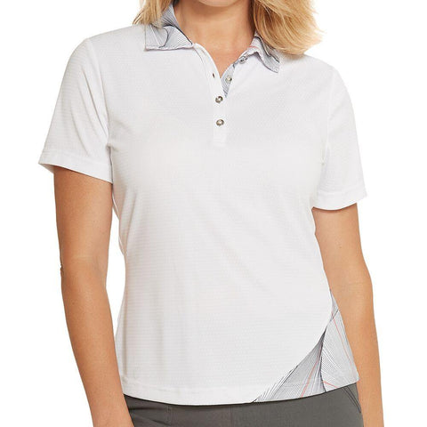 GGBlue Divine Dora Chic Short Sleeve Polo - Gals on and off the Green