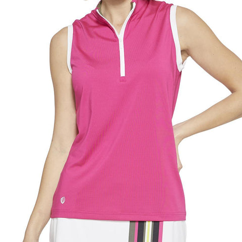 GGBlue Pursuit Cassie Fuschia Sleeveless Polo