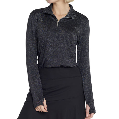 GG BLUE BLACK DIAMOND ELLIE LONG SLEEVE POLO