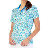 GG BLUE TURKS&CAICOS EDITH SHORT-SLEEVE TOP