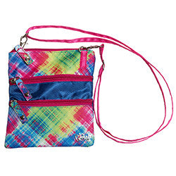 GloveIt Electric Plaid 3 Zip Bag