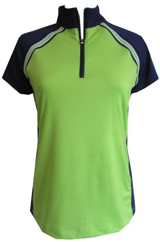 EP Pro Good Sport Plus Size Lime Cap Sleeve Polo