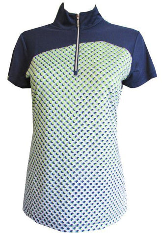 EP Pro Good Sport Dot Short Sleeve Polo - Gals on and off the Green