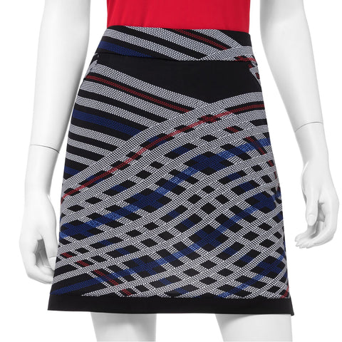 EP Pro Parallels Star Check Print Skort 19""