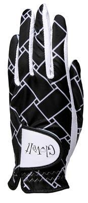 GloveIt Black & White Basketweave Golf Glove