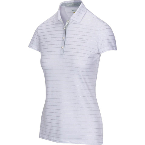 Greg Norman Pearlescent Shell Stretch Polo - Gals on and off the Green