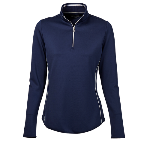 Greg Norman Chain Reaction 1/4 Zip Piped Pullover