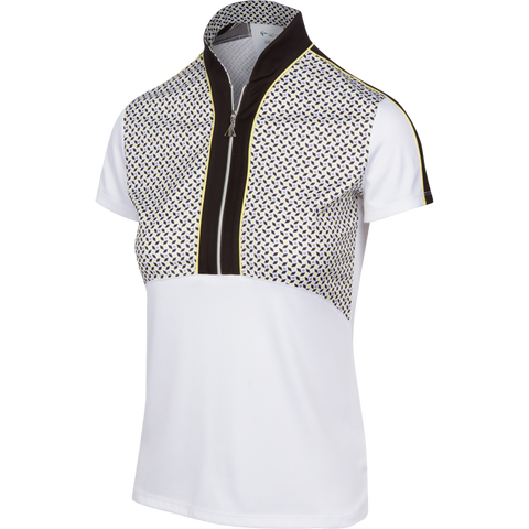 Greg Norman Grand Prix Driver Zip Polo
