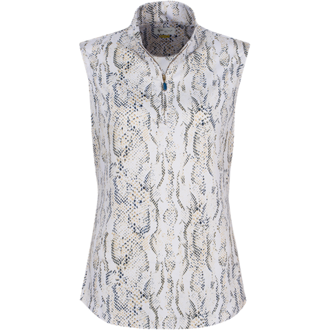 Greg Norman Skins Game Zip Python Print Polo