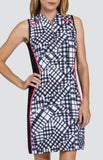 Tail Peony Petals Lyla Pieced Gingham Dress