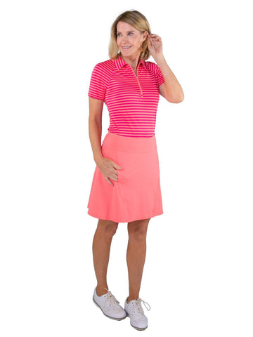 JoFit Pink Lady Paneled Swing Skort (Long) - Gals on and off the Green