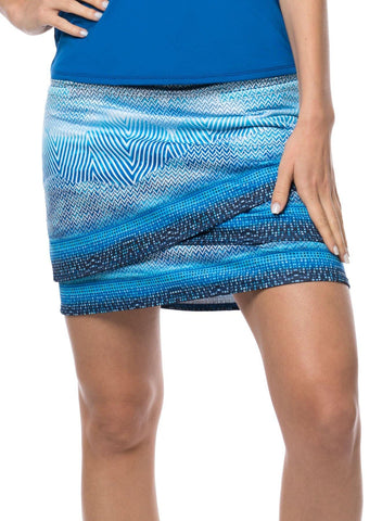 Lucky in Love Axis Point Longitude Scallop Skort (Long)