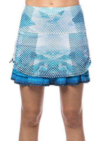 Lucky in Love Axis Point Ruched Tier Skort (short)