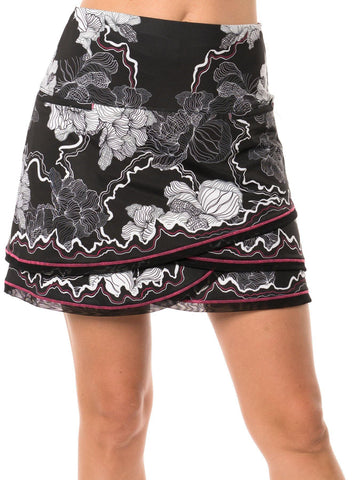 Lucky in Love Off the Charts Electric Love Border Scallop Skort (Long)