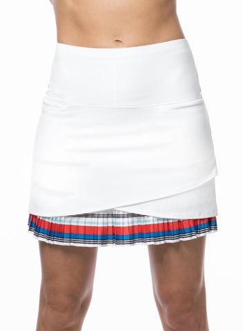 Lucky In Love Bloomy Dimensions Beeline Border Pleated Tier Skort