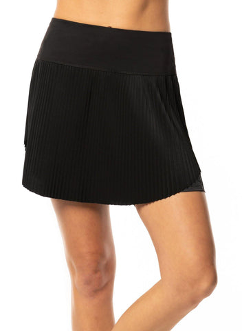 Lucky in Love C'est La Vie Hi-Brid Pleated Skort (Short) - Gals on and off the Green