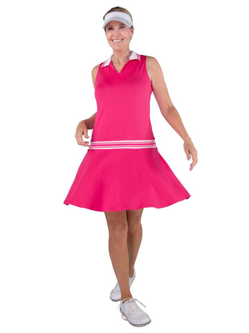 JoFit Pink Lady Ribbed Golf Dress