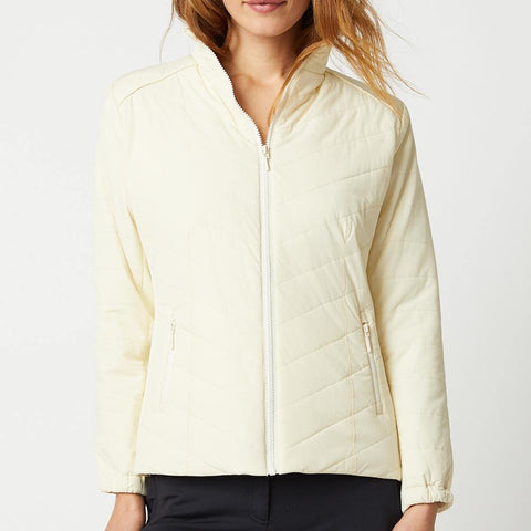 GGBlue Jocelin Quilted Jacket White
