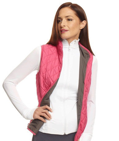 Golftini Reversible Wind Vest in Pink/Grey