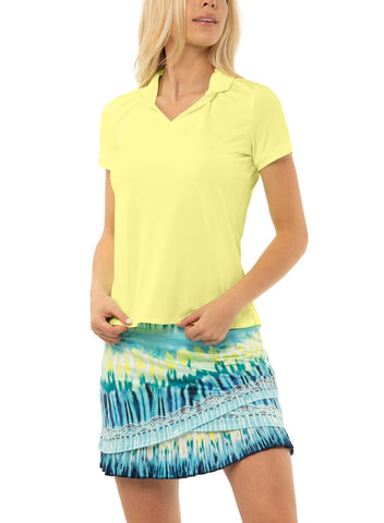 Lucky in Love Peace Out Chi Chi Short Sleeve Polo - Gals on and off the Green