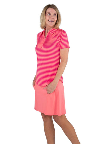 JoFit Pink Lady Raglan Polo - Gals on and off the Green
