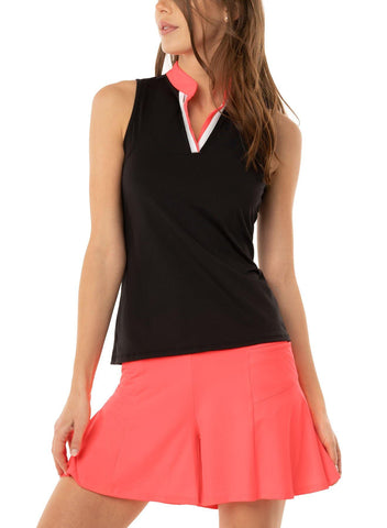 Lucky in Love C'est la Vie Double Up Placket Tank