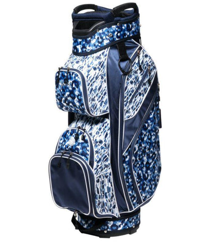 GloveIt 2021 Blue Leopard 15-Way Golf Bag - Gals on and off the Green
