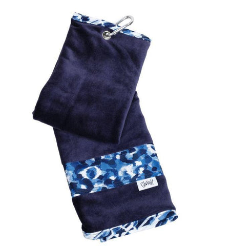 GloveIt 2021 Blue Leopard Towel - Gals on and off the Green