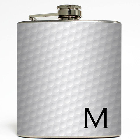 Golf Ball Print Flask (without letter)