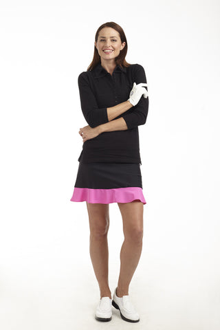 Golftini Black/Hot Pink GT Tech Pull On Skort