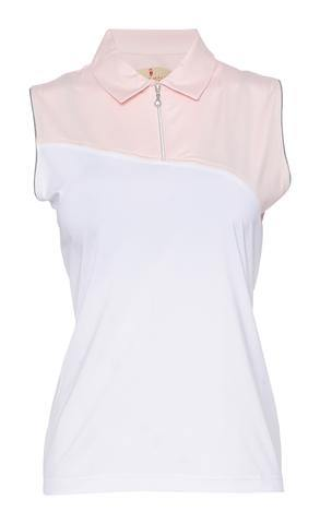 Sport Haley Blush Sophia Sleeveless Polo
