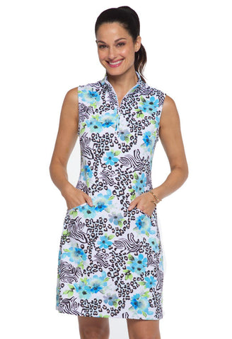 IBKUL Eva Sleeveless Dress Peri