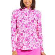 IBKUL Full of Hearts Long Sleeve Hot Pink